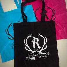 Tote bag 10 € (black, turquoise or pink)
